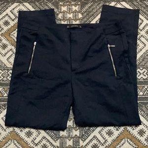 Zara basic dress trouser pant double zipper XL
